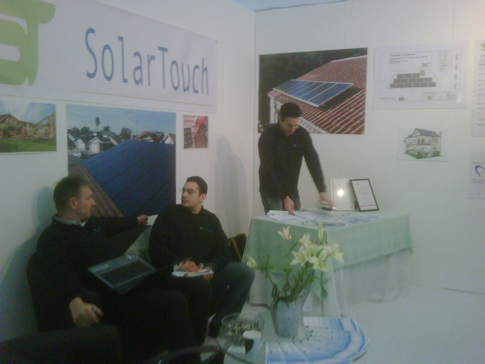Managing Director Gunther Nacke of Convers Energie with SolarTouch partners at the London Ideal Home Show